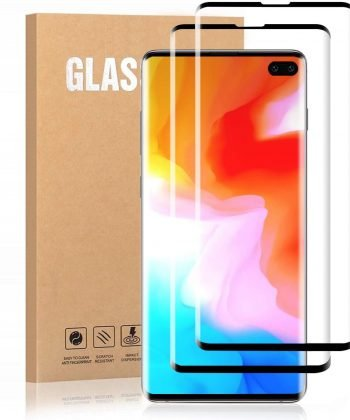 Soft Foot Galaxy S10 Plus Screen Protector Tempered Glass, [Update Version] 3D Curved Dot Matrix [Full Screen Coverage] Glass Screen Protector [Case Friendly] for Samsung S10 Plus