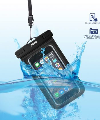 """JOTO Universal Waterproof Pouch Cellphone Dry Bag Case for iPhone 11 Pro Max Xs Max XR X 8 7 6S Plus SE, Galaxy S20 Ultra S20+ S10 Plus S10e S9 Plus S8/Note 10+ 9, Pixel 4 XL up to 6.9"""" -Black"""