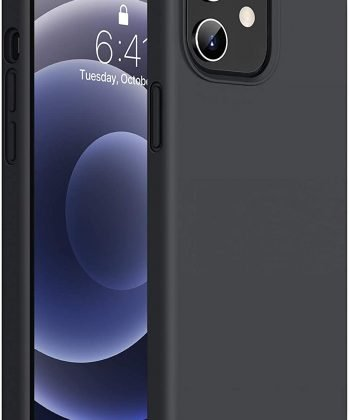 Miracase Compatible with iPhone 12 Case and iPhone 12 Pro Case 6.1 inch(2020),Liquid Silicone Gel Rubber Full Body Protection Shockproof Drop Protection Case(Black)