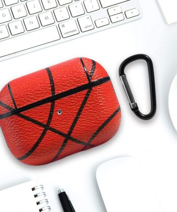 HIDAHE Airpods Pro Skin, Airpods Pro Protective Cover, Shockproof Case for Airpods Pro Accessories Sport Pattern Airpod Pro Cover Leather Case for Apple Charging Case for AirPods Pro, Basketball