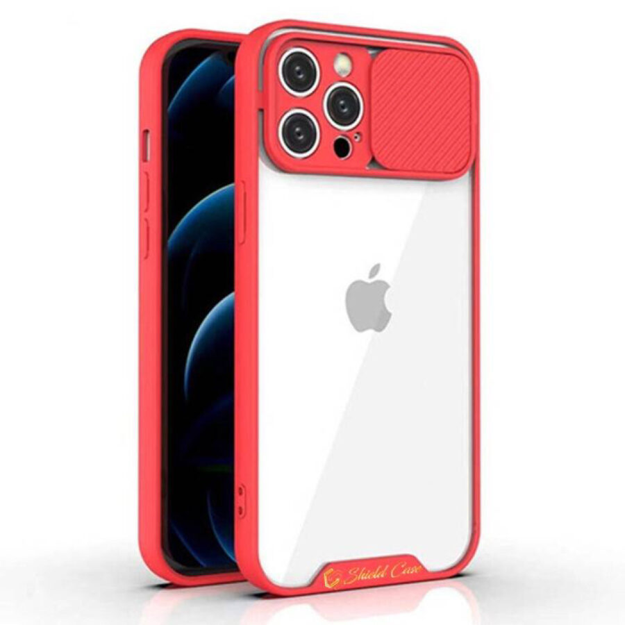 Clear Tuxedo Case - red