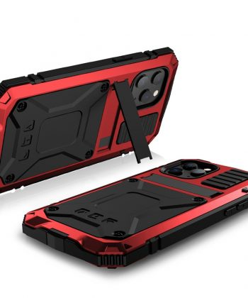 Kickstand Phone Case For iPhone 12 Pro Max XS Max XR Dustproof Shockproof Tempered glass Metal Cover For iPhone 12 Mini 11 Pro